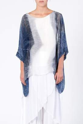 Catwalk Silk Dip-Dye Top