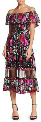Dress the Population Gabriella Off-the-Shoulder Dress