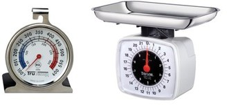 Taylor Precision Products TAYLOR PRECISION PRO 3880 Kitchen & Food Scale, 22 lbs & 3506 Oven Dial Thermometer