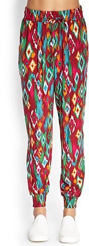 Forever 21 Tribal Print Joggers