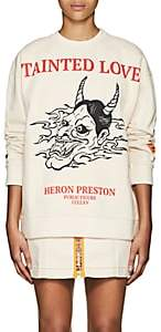 "Heron Preston Women's ""Tainted Love"" Cotton Sweatshirt - White"