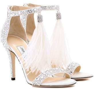 Jimmy Choo Viola 100 embellished sandals