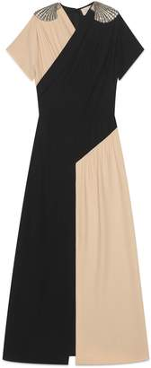 Gucci Silk dress with shell appliqués