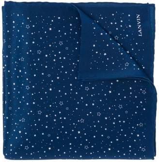Lanvin star printed scarf