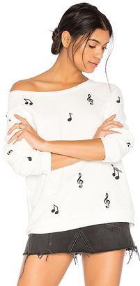 Lauren Moshi Noleta Music Notes Pullover in White $136 thestylecure.com
