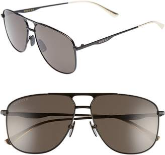 403a0a8f1c7 Gucci 80s Monocolor 60mm Polarized Aviator Sunglasses