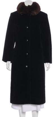 Max Mara Fur-Trimmed Alpaca & Wool Coat