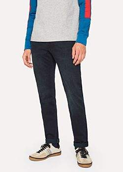 Paul Smith Men's Slim-Fit 11.8oz 'Super Soft Cross-Hatch' Over-Dyed Jeans