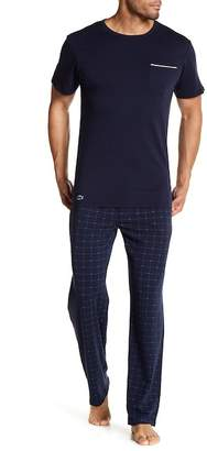 Lacoste Drawstring Print Knit Pants