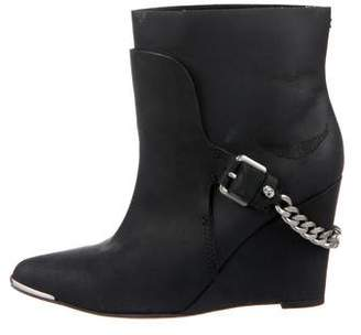 Zadig & Voltaire Leather Chain-Link Boots