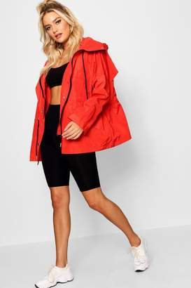 boohoo Oversized Zip Detail Parka