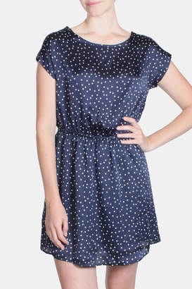 Le Lis Satin Polka Dot Dress $39 thestylecure.com