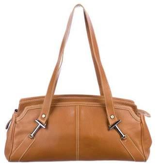 Tod's Pebbled Leather Shoulder Bag Brown Pebbled Leather Shoulder Bag