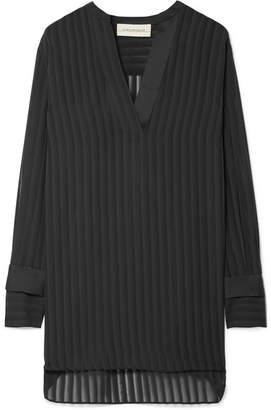 By Malene Birger Cobona Striped Organza Blouse - Black