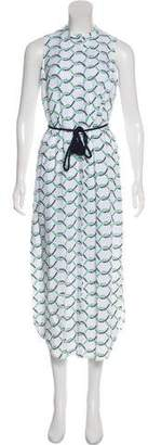 Tory Burch Printed Linen Dress