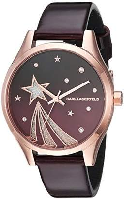 Karl Lagerfeld Women's Janelle Quartz Stainless Steel and Leather Watch