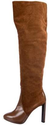 Celine Suede Over-The-Knee Boots