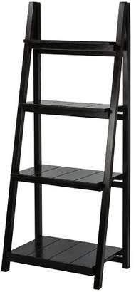 Gracie Oaks Kacie Slatted 4-Shelf Folding Ladder Bookcase