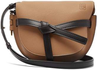 Loewe Gate Small Grained Leather Cross Body Bag - Womens - Brown Multi