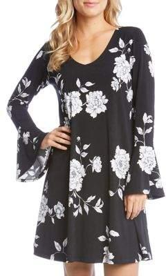 Karen Kane Flare Sleeve Floral Dress