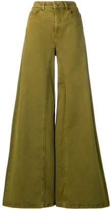 Alberta Ferretti high waisted flared jeans