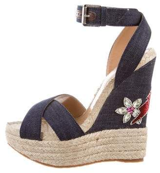 DSQUARED2 Platform Espadrille Wedges