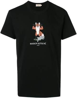 MAISON KITSUNÉ pixel fox T-shirt