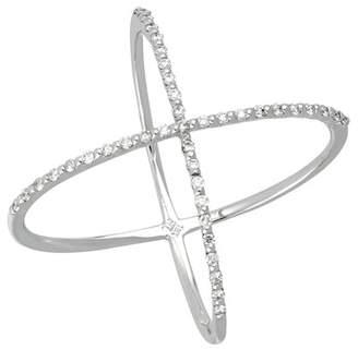 Bony Levy 18K White Gold Diamond Crossover Ring - 0.22 ctw