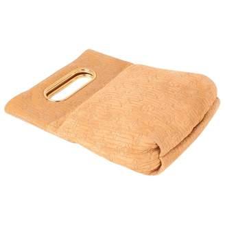 Louis Vuitton Beige Suede Clutch bag
