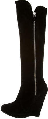 Casadei Zip-Up Wedge Boots $225 thestylecure.com