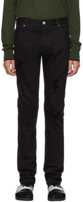 Balmain Black Distressed Jeans