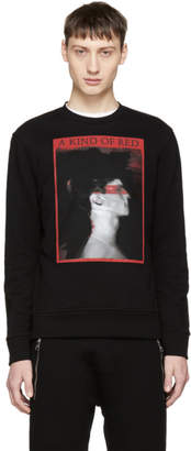 Neil Barrett Black A Kind of Red Sweatshirt