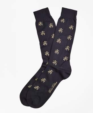 Brooks Brothers Golden Fleece Logo Crew Socks