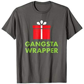 Gangsta Wrapper | Funny Christmas Present T-Shirt for Adults