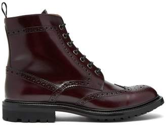 Church's Angelina 2 Rois Burnished Leather Ankle Boots - Womens - Burgundy