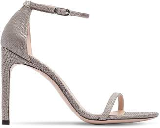 Stuart Weitzman 100mm Nudist Song Leather Sandals