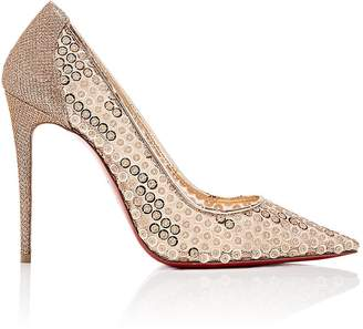 Christian Louboutin Women's Lace 554 Paillette-Detailed Pumps