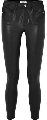 Frame Le High Skinny Leather Pants - Black