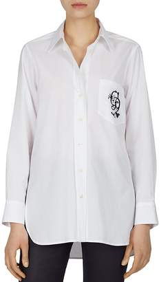 Gerard Darel Carla Embroidered-Pocket Blouse