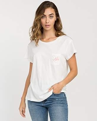 RVCA Junior's Luv Aloha Short Sleeve Pocket T-Shirt