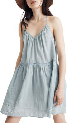 Madewell Embroidered Racerback Cover-Up Dress