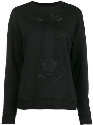 Versus pin printed sweatshirt