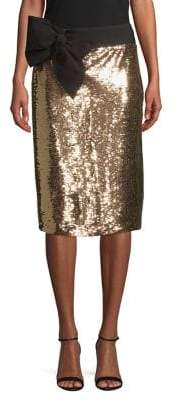 Isaac Mizrahi IMNYC Sequin Bow Skirt