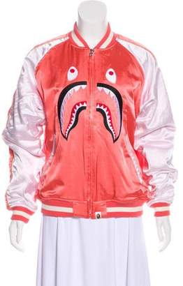A Bathing Ape Shark Souvenir Bomber Jacket