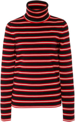 Moncler Genius Striped Stretch-Wool Turtleneck Sweater