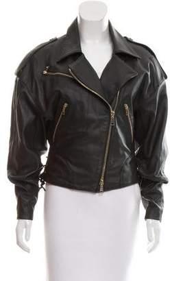 Amen Leather Moto Jacket