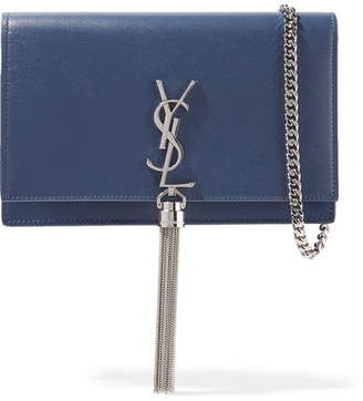 Saint Laurent Monogramme Kate Small Leather Shoulder Bag - Storm blue