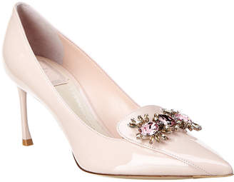 Christian Dior Embellished Patent Pump