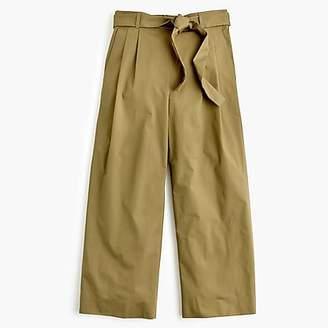 J.Crew Petite wide-leg cropped pant in cotton-poplin