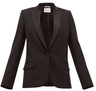 Pallas X Claire Thomson Jonville X Claire Thomson-jonville - Dante Single Breasted Wool Twill Blazer - Womens - Black